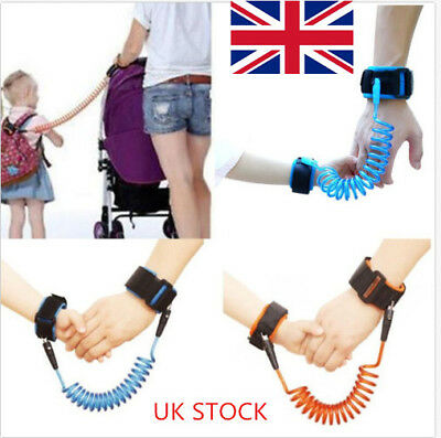 UK Safety Harness Leash Anti Lost Wrist Link Traction Rope For Toddler Baby Kids