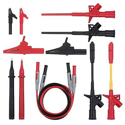 Multimeter Test Leads Kit 12 Pcs Multimeter Leads With Alligator Clips Probes An