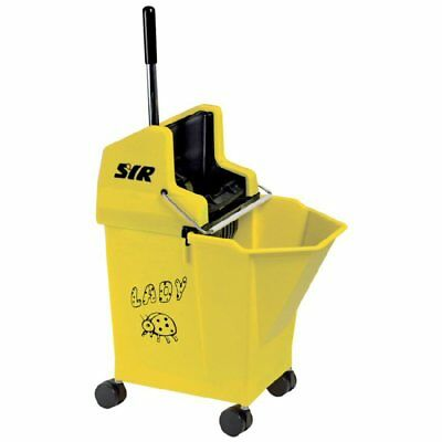 Ladybug SYR Kentucky Bucket and Wringer 15 Litre Yellow Colour Coded K1Y