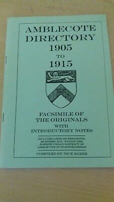 Family history research.Amblecote Directory. 1905-1915
