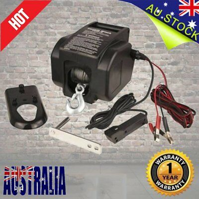 Electric Winch for Marine Boat 12V 2000LBS / 907kg Detachable Portable 4WD ATV C