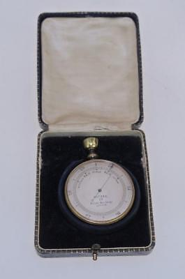 Vintage Gentleman's Brass Cased Pocket Aneroid Barometer/Compass