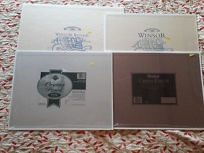 Four brand new large canvas art boards