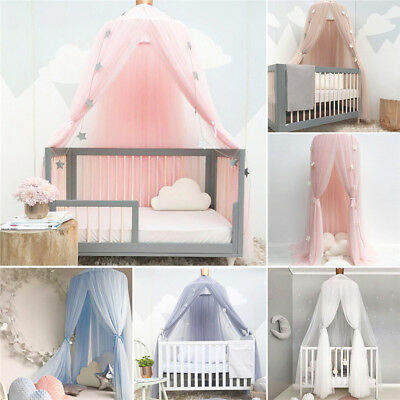 Baby Cot Canopy Childrens Bed Round Lace Mosquito Net Princess Dome Bed