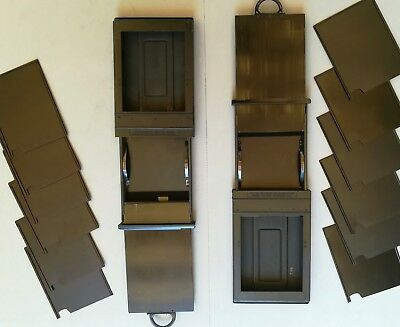 2 Chasis Multiples 4X5 Grafmatic Film Holder Sinar Cambo Linhof