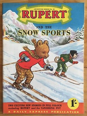 RUPERT Adventure Series No 23 Rupert and the Snow Sports February 1955 VERY FINE
