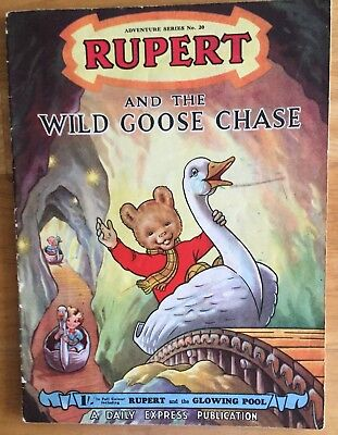 RUPERT Adventure Series 20 Wild Goose Chase April 1954 Nr VG
