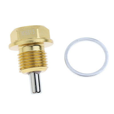 Replacement M16x1.5 Magnetic Oil Drain Plug Bolt Screw Sump Nut Washer Gold