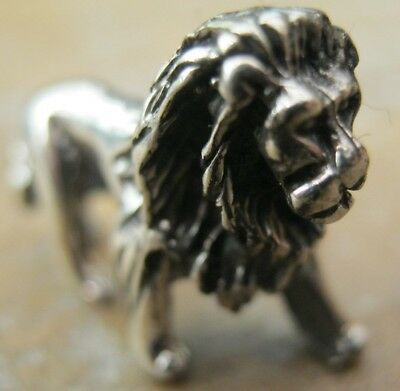 Antique Style English Hallmarked Sterling Silver Lion - Dolls House Miniature