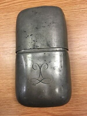 Vintage Rare Pewter James Dixon And Sons Collectable Hip Flask Antique Sdhc