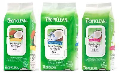 Tropiclean Dog Cat Deep Cleaning Hypoallergenic Ear Wash Wipes