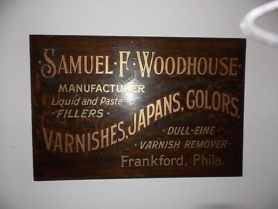 antique wood advertising trade sign - very graphic - 19th century