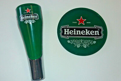 Heineken Tap Handle And Medallion Set *free Shipping*