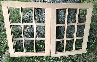 OLD VINTAGE SHABBY CHIC WINDOW FRAME 9 PANE. Read Description