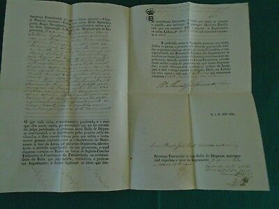 Portugal 1857 Early Document
