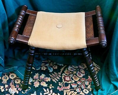 Oriental Style Saddle Seat Stool -17 inches high
