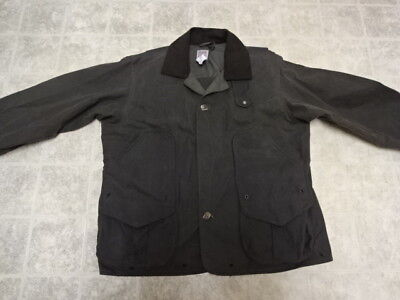 Filson Waxed Cotton Hunting Jacket L Great Cond Not Much Used Made In Usa 435