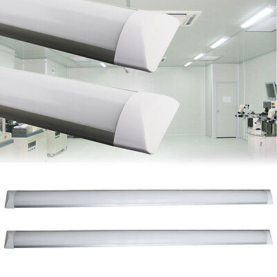 2/4/10X 4FT 36W LED Batten Tube Light Surface Mount Wall Ceiling Lamp Cool White