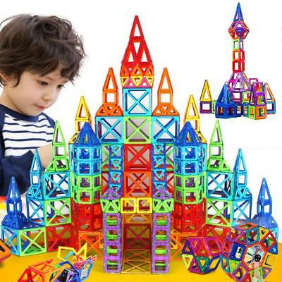 110 Piece Magnetic Tiles Magnetic Building Blocks with Wheels Toys for Kids Gift