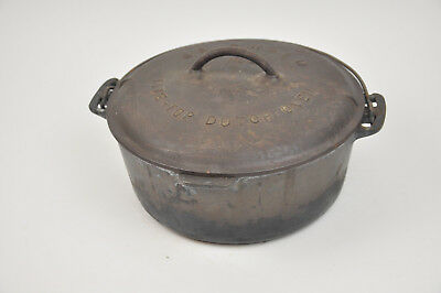Griswold #9 Cast Iron TITE TOP Dutch Oven 2552 BLOCK LETTER Baster Lid & 834 H