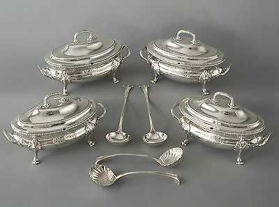 An Exquisite Suite of George III Silver Sauce Tureens, Le Sage, London 1774
