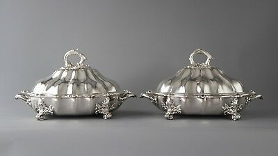 An Outstanding Pair of Silver Vegetable Tureens, Joseph Angell & son London 1845