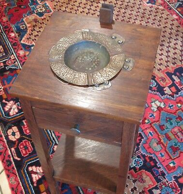 Antique Signed Stickley Brothers Smoke Stand Similar To # 144 Pickup Only
