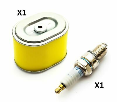 Non Genuine Yellow Air Filter Element + Spark Plug F7TC Fits Honda GX160 GoKarts