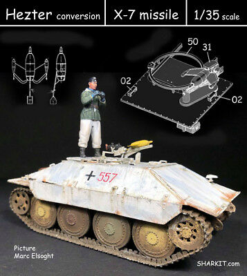 1/35 scale Hezter conversion X-7 missile - SHARKIT