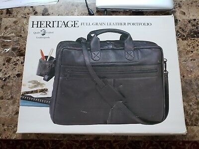 19eccac248b7 Heritage Colombian Leather Double Compartment Top Zip 16.0 in. Briefcase
