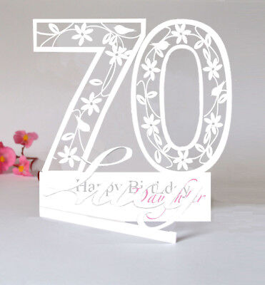 Large Personalised 3D PaperCut 70th Birthday Card For A DaughterSister Etc