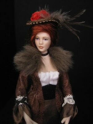 Exquisite dolls house 1/12th doll~by Celia Mayfield~tall, elegant lady