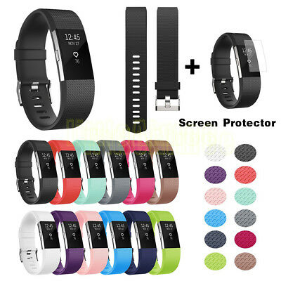 Replacement Silicone Band Strap Wristband Bracelet For Fitbit CHARGE 2/2HR