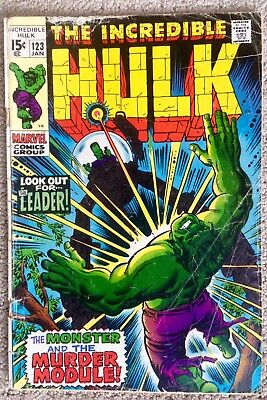 Incredible Hulk #123 (1970)  The Monster And The Murder Module!  PRICED TO SELL!