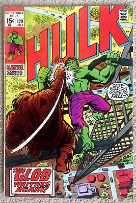 "Incredible Hulk #129 (1970)  Marvel!  ""The Glob Writhes Again!""  PRICED TO SELL!"