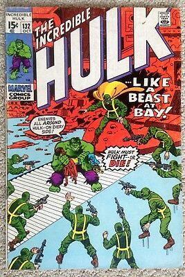 "Incredible Hulk #132 (1970) Marvel!  ""In The Hands Of Hydra!""  PRICED TO SELL!"
