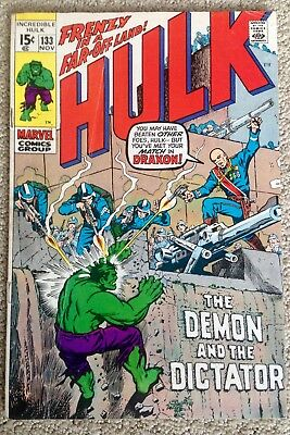 Incredible Hulk #133 (1970) Marvel! The Demon And The Dictator!  PRICED TO SELL!