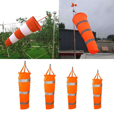 24,30,40,60inch Airport Windsock Aviation Outdoor Wind SOCK Bag Camping Flag