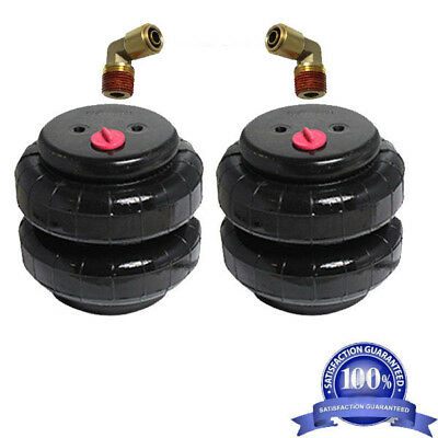 """2 air bags 2500 lb with 3/8"""" hose elbow for truck tow kit air ride suspensionxzx"""