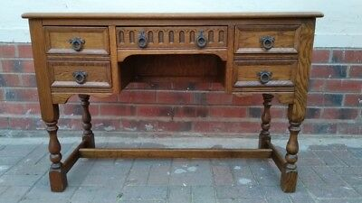 Old Charm style Solid oak desk with drawers