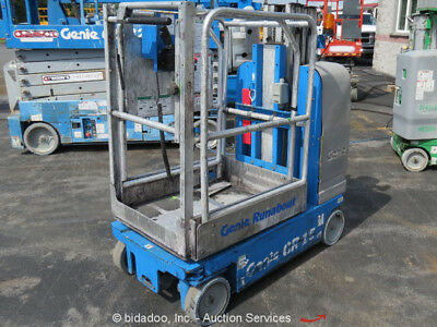 2008 Genie GR-15 15' Electric Mast Lift Personnel Man Aerial Stock Order Picker