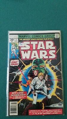 Star Wars Marvel Comic Book July 1977 1St First 30 Cent Issue Very Nice !