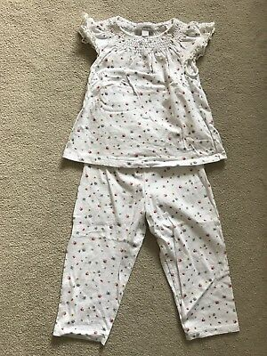 The Little White Company Girls Summer Pajamas Age 12-18 Months