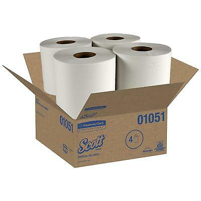 Scott Center-Pull Paper Roll Towels, Absorbency Pockets, 1ply, 8x15, 500/roll, 4