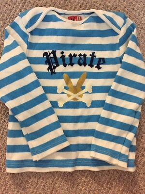 No Added Sugar Boys Long Sleeve Top Pirate Stripe 18 Monyhs