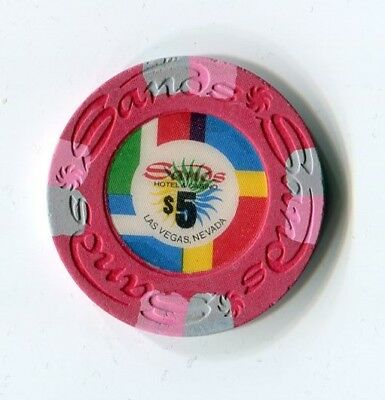 """++++++++ $$$ OLD 1978 SANDS VEGAS $5 PINWHEEL  """" Do You Have ?? """"   RATED """" O """""""