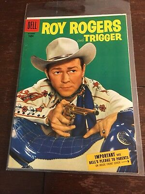 ROY ROGERS #93-1955- Dell Western, Photo Cover, High Grade Golden Age Goodness