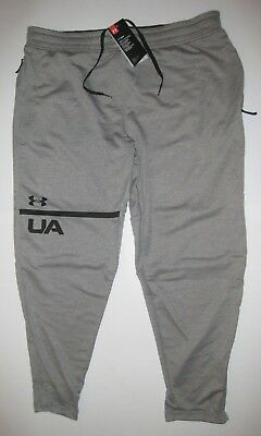 374f7366e959 Men s Under Armour Tech Terry Tapered Pants Gray Large 2XL New NWT MSRP  55