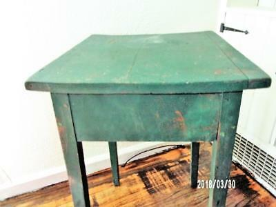 AAFA 19thc Early Antique Primitive Hepplewhite WORK TABLE - OLD PAINT - WEDDING