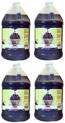 (4) ea  Gold Medal 1224 Gallon Grape Flavor Sno-Cone Sno-Kone Syrup